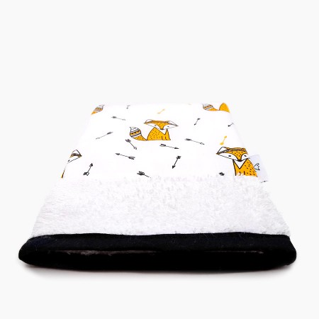 "Organic washcloth - ""Fox le Rouky"""
