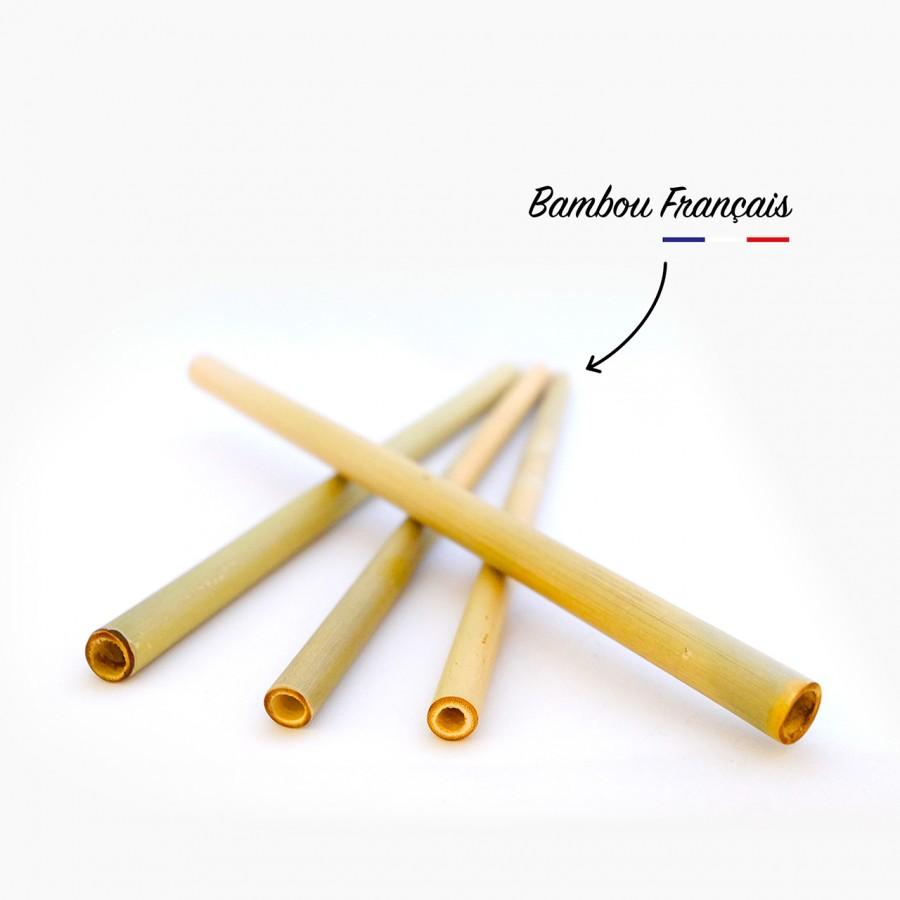 4 Pailles en bambou français