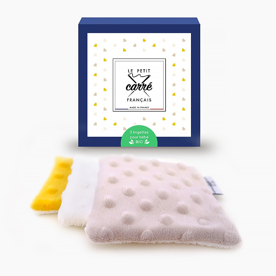Lingette bébé lavable - Fille Mixte - Le Petit Carré Français