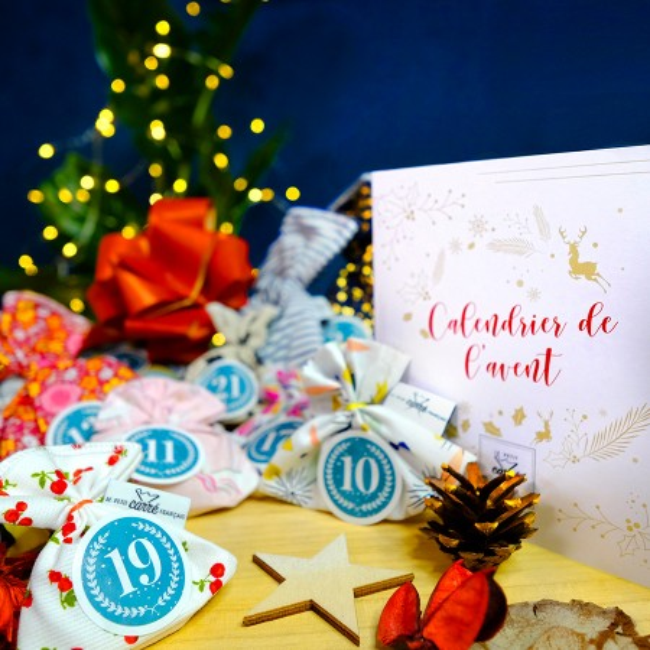"Organic washcloth ""Renard Fox"" - Le Petit Carre Francais"