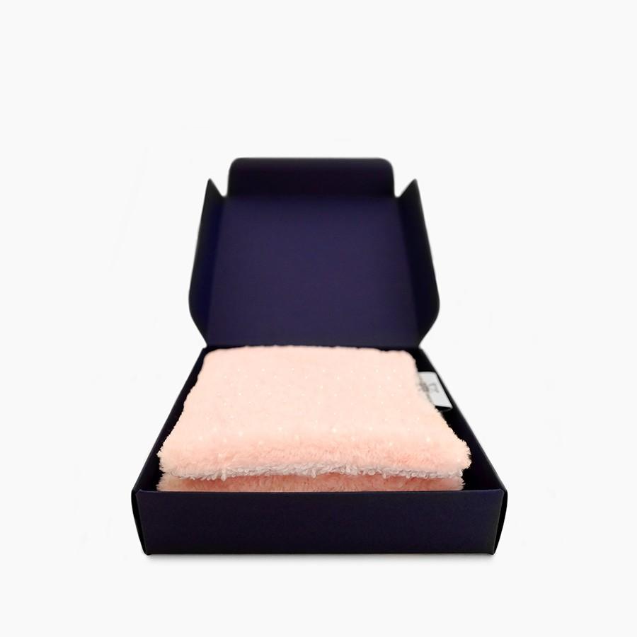 """3x """"Douillette Paillettes Rose Pâle"""" organic washable makeup remover wipes"""