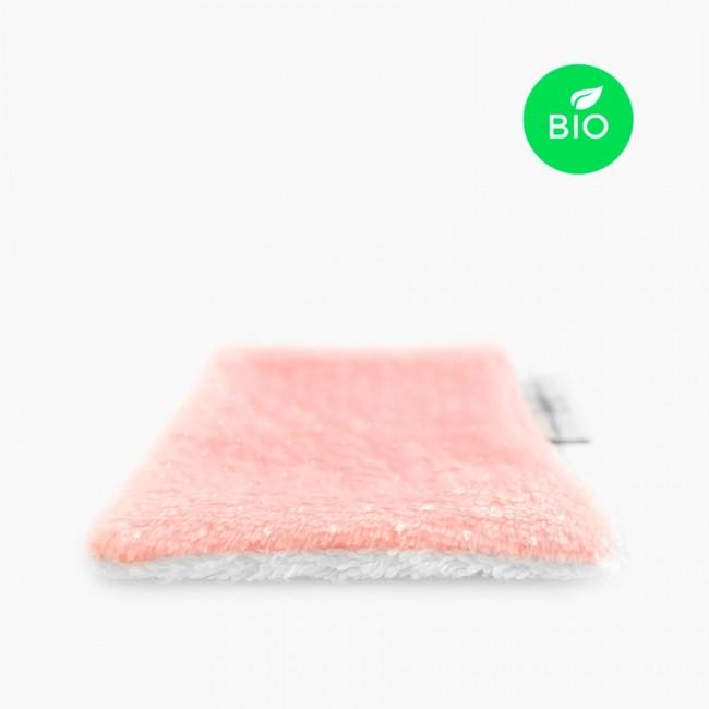"""3x """"Douillette Paillettes Rose Pâle"""" Lingettes démaquillantes lavables Bio"""