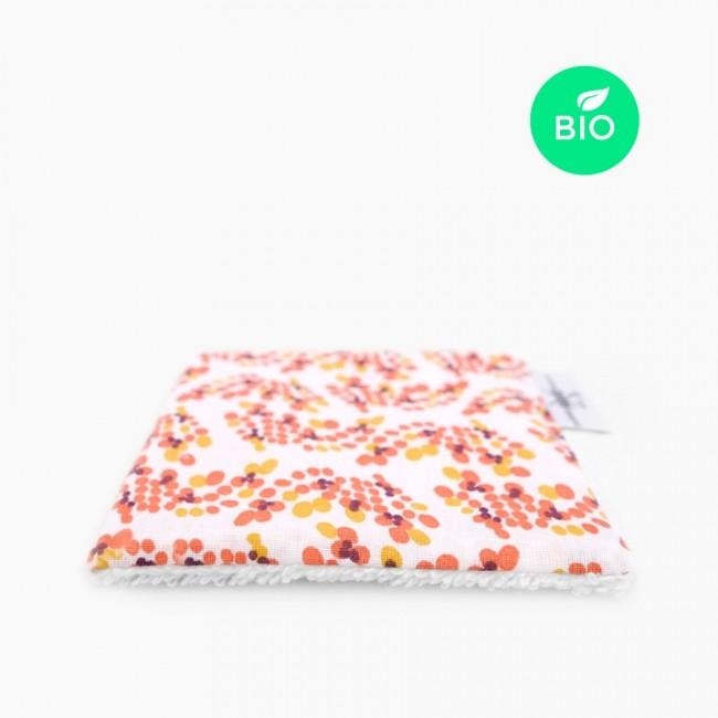 """6x """"Spring"""" Carrés démaquillants lavables bio"""