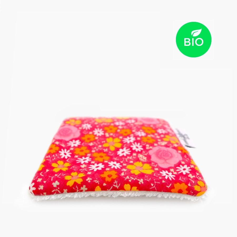 Carré démaquillant lavable bio - Flower Power - Le Petit Carré Français
