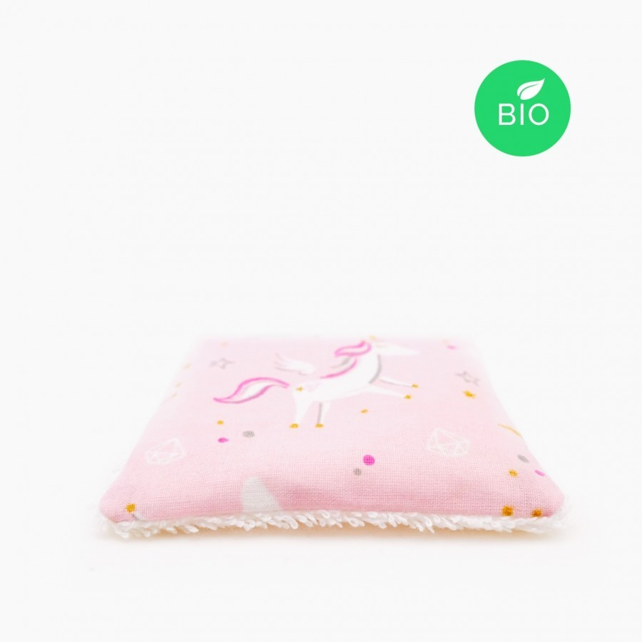 Washable cleansing wipes flamant rose x6