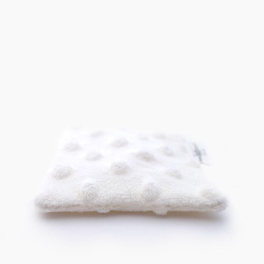 Lingette démaquillante lavable double face blanc Le Petit Carré Français