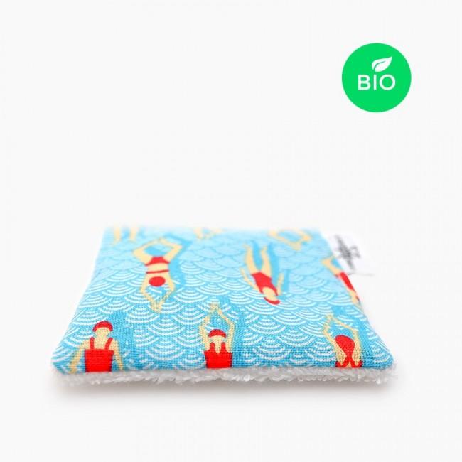 """6x """"Baigneuses"""" carrés démaquillants lavables bio"""