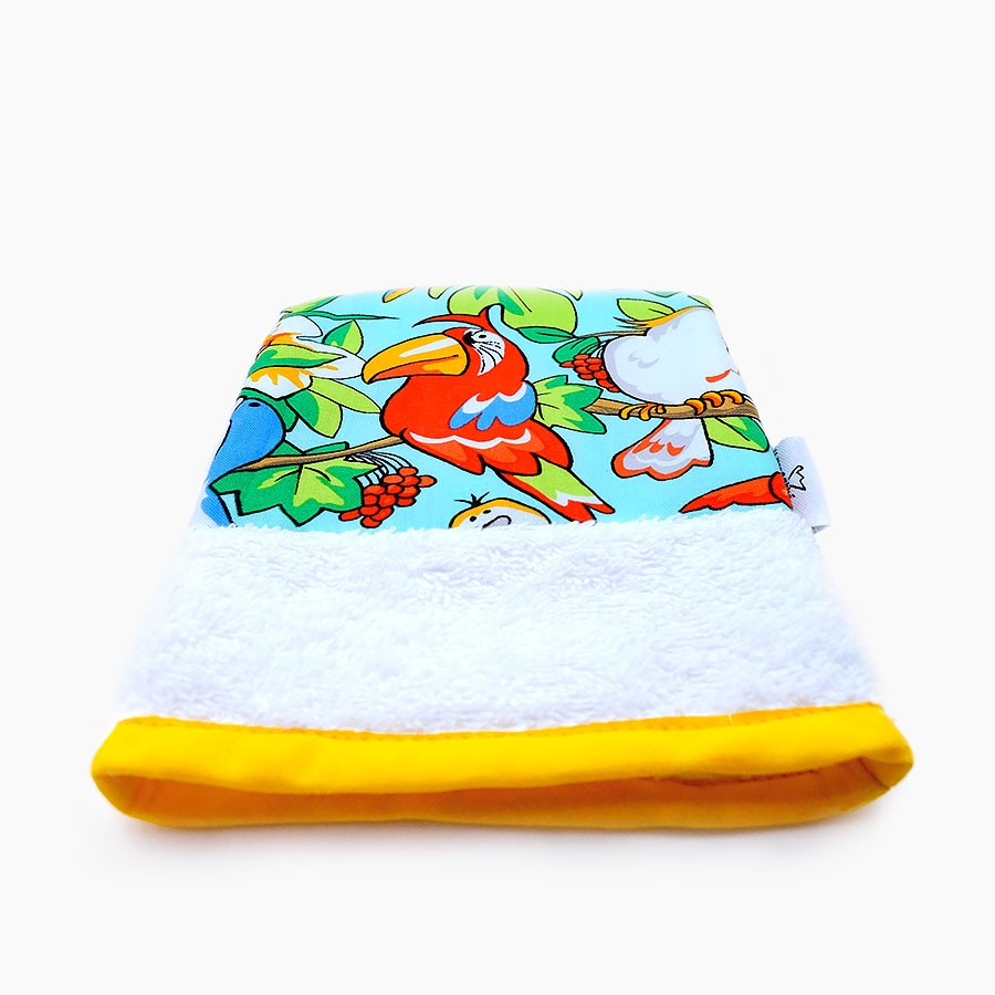 "Organic washcloth ""jungle"" - Le Petit Carre Francais"
