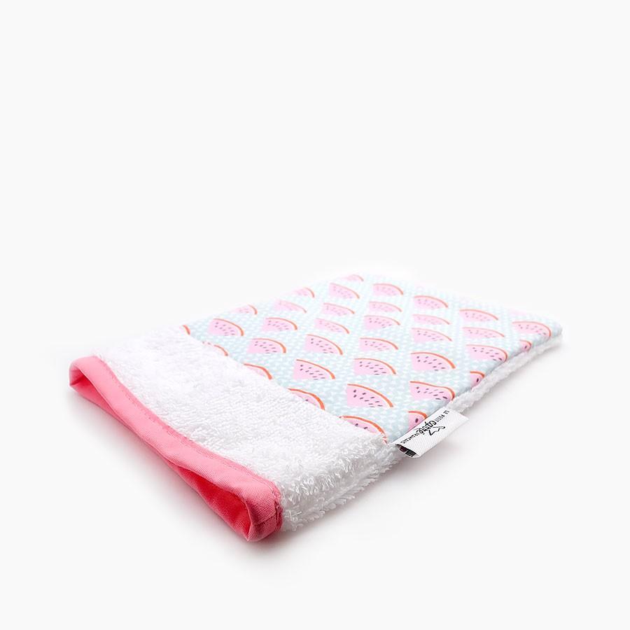 """Organic washcloth """"pasteque"""" - Le Petit Carre Francais"""