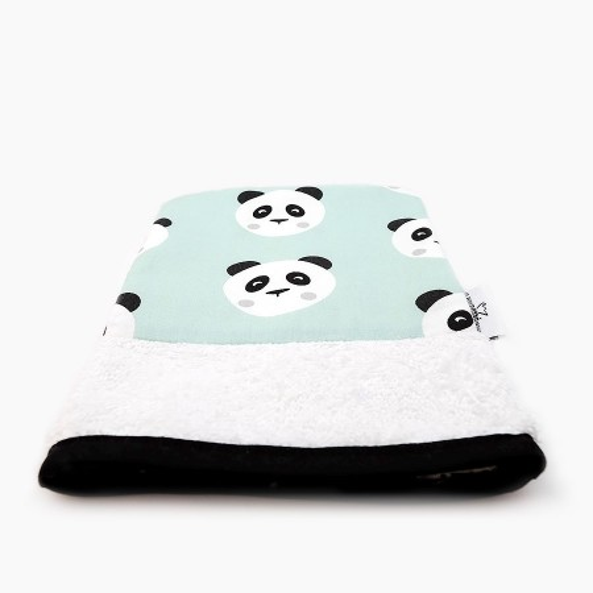 "Organic washcloth - ""Panda sans Kung-fu"""