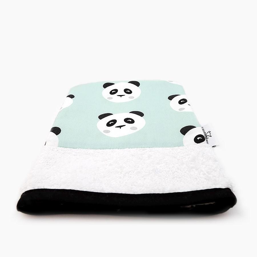 """Organic washcloth """"Panda"""" - Le Petit Carre Francais"""