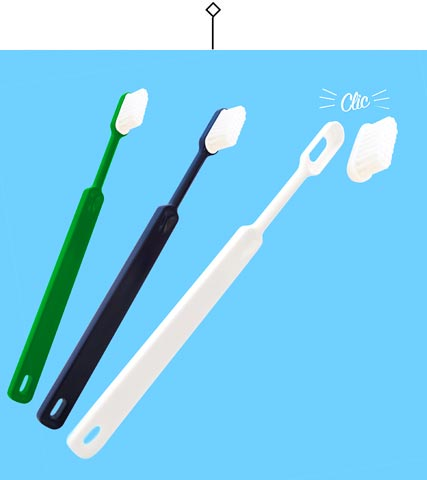 Zero waste ecological toothbrush - Le Petit Carré Français