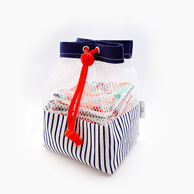 net washing bag for cleansing wipes