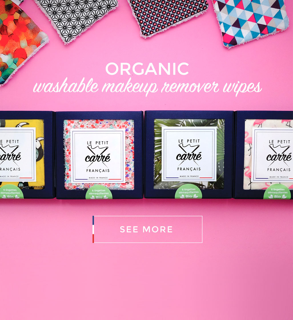 Organic washable makeup remover wipes