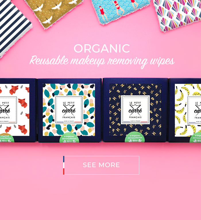 Organic reusable make-up removing wipes